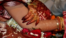 Fingers of Indian Bride