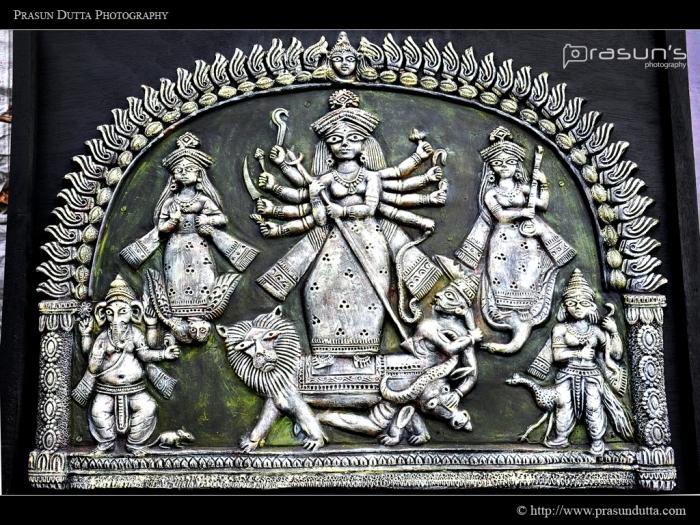 Wooden Devi Durga